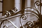 Historic Charleston ironwork in historic district