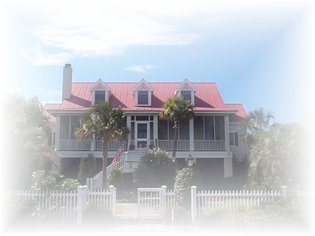 Sullivans Island home with red roof